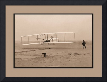 Wright Flyer First Flight 1903 Aged