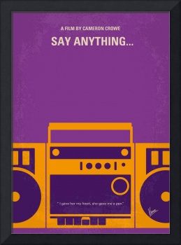 No886 My Say Anything minimal movie poster