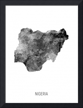 Nigeria Watercolor Map