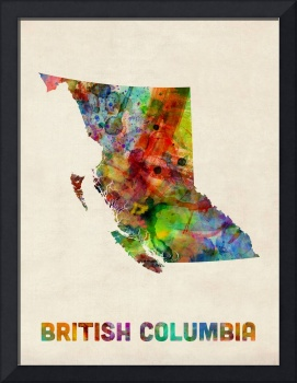 British Columbia Watercolor Map