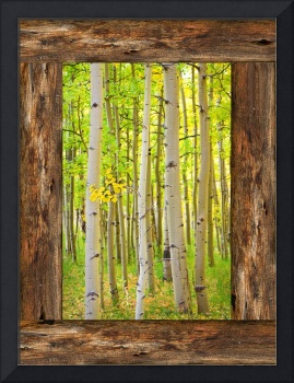 Rustic_Cabin_Window_Into_Woods_Portrait_View