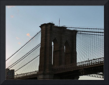 Close up of Brooklyn Bridge