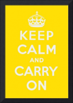 Yellow Keep Calm And Carry On 1