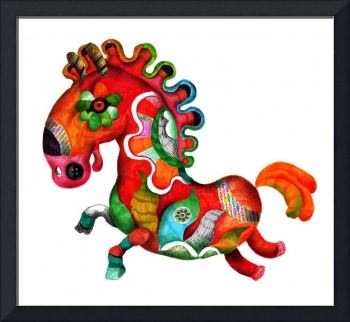 Colorful horse