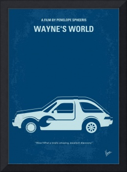 No211 My Waynes World minimal movie poster