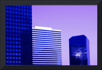 Century City Infrared Office Buildings at Sunrise