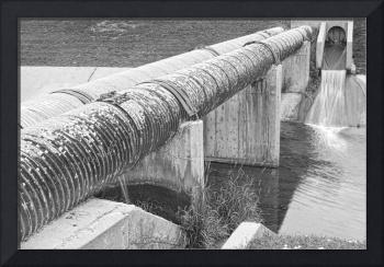 Water Works in Black and White