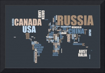 World Map in Words