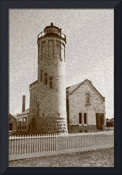 Lighthouse with Sponge Painting Effect