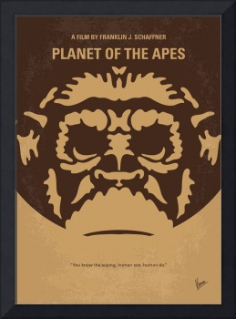 No270 My PLANET OF THE APES minimal movie poster