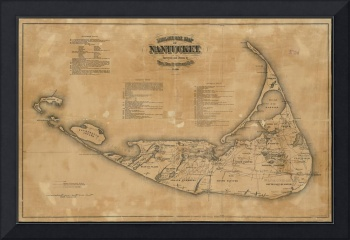 Vintage Map of Nantucket (1869)