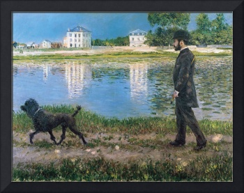 Richard Gallo and his Dog at Petit Gennevilliers b