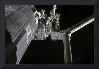The robotic arm of the Japanese Experiment Module