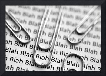 Blah Blah Blah Text with Paperclips HORIZONTAL CRO