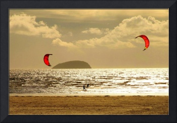 Kite Surfing North Somerset England