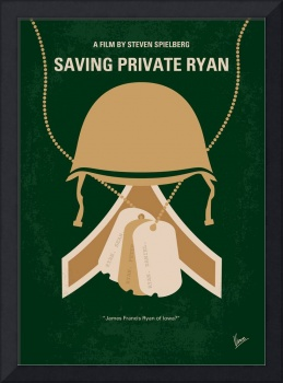 No520 My Saving Private Ryan minimal movie poster