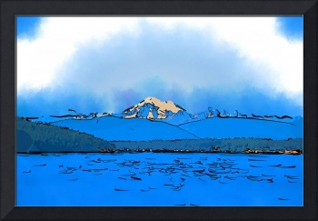 Mount Baker In Subtle Abstract