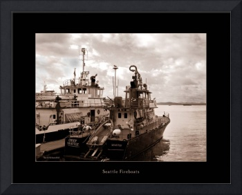 Seattle Fireboats Sepia