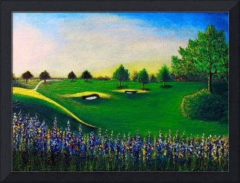 Golf Course Sunrise Landscape 1