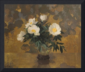 Single White Peonies by Hermann Dudley Murphy (186