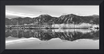 Flatirons Sunrise Reflections Panorama Boulder Col
