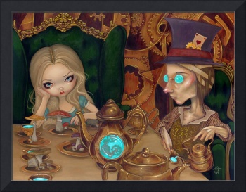 Steampunk Alice in Wonderland:  Alice & Mad Hatter