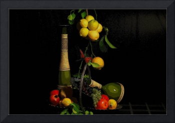 Fruits and Bottles