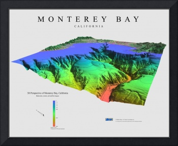 3D Perspective of Monterey Bay