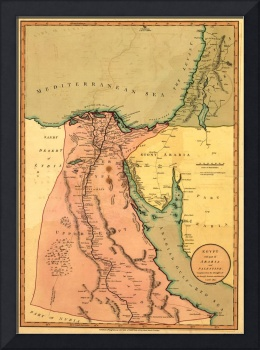 Vintage Map of Egypt (1800)