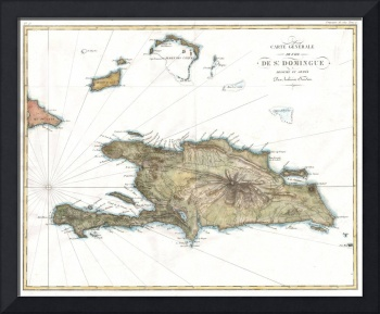 Vintage Map of St. Domingue (1802)
