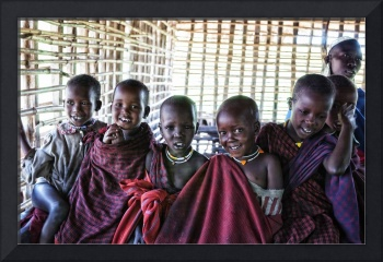 Portrait of Young Maasai Children 4239