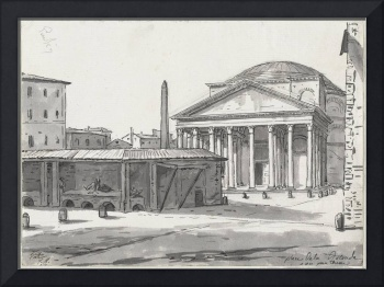 Jacques-Louis David~The Pantheon Seen from the Pia