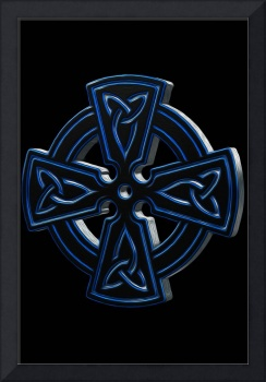 Blue Metal Celtic Cross