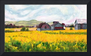 FINE ART DIGITAL SPRINGTIME FIELDS FARM MARYLAND