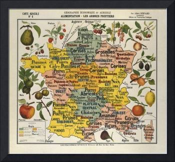 Map of France: Economic and agricultural geography