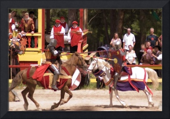 Jousting Before The King