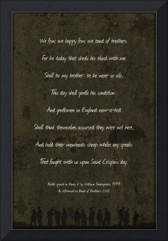 St Crispins Day Speech Band Of Brothers