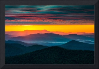 North Carolina Blue Ridge Parkway Morning Majesty