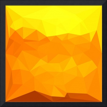 Cyber Yellow Abstract Low Polygon Background