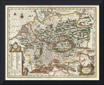 Map of Germany (Germania) by Jan Jansson