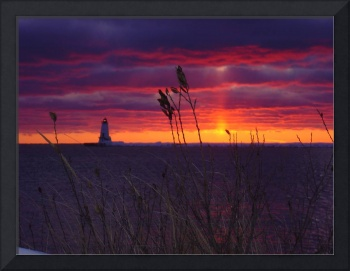 Winter Sunset Lighthouse