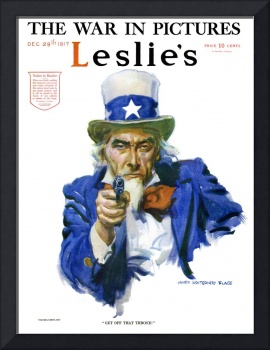 Famous Uncle Sam with a GUN J.M. Flagg