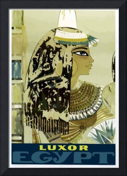 Vintage Luxor Egypt Ruins Travel