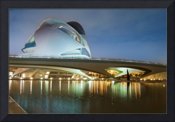 Valencia Music Palace at Night