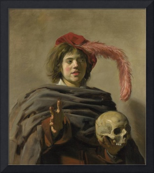 oung Man with a Skull, by Frans Hals