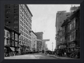 Broadway at 14th, Oakland CA, c1920