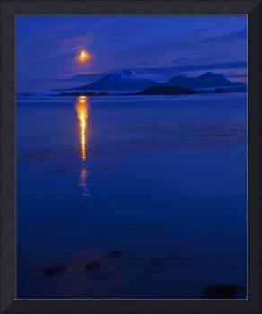 Moon Rise over Mt. Edgecumbe