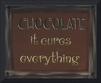 Chocolate Sign (Dark Brown)