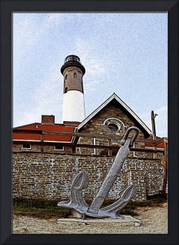 Fire Island Anchor Traditional Art