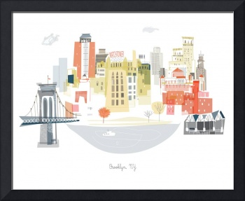 Brooklyn Modern Cityscape Illustration